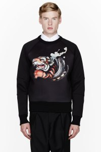 Juun J Neoprene Graphic Sweater