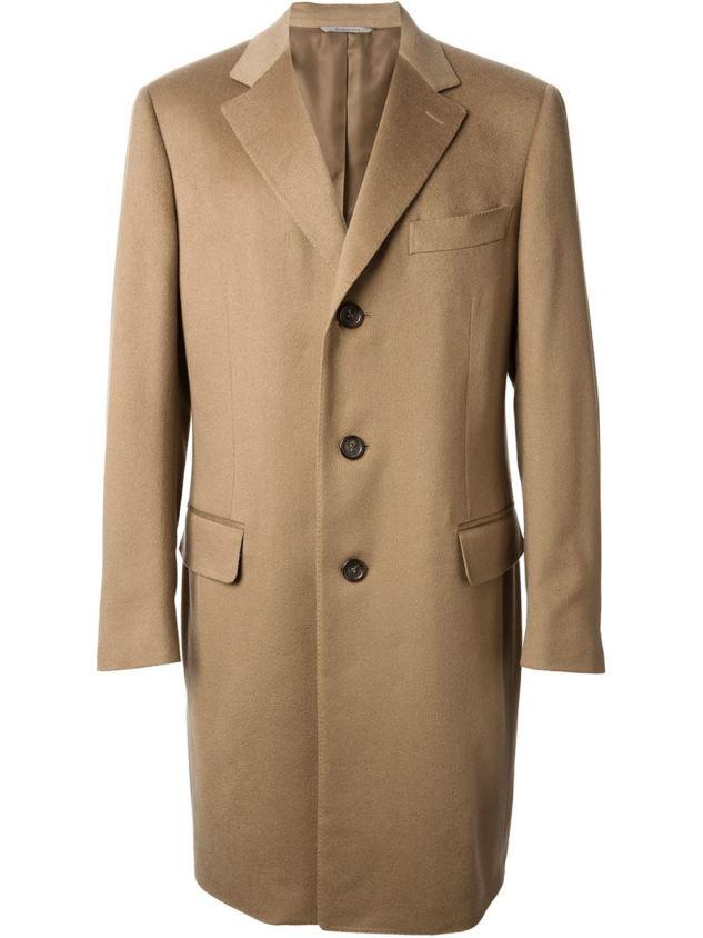 canali classic camel coat
