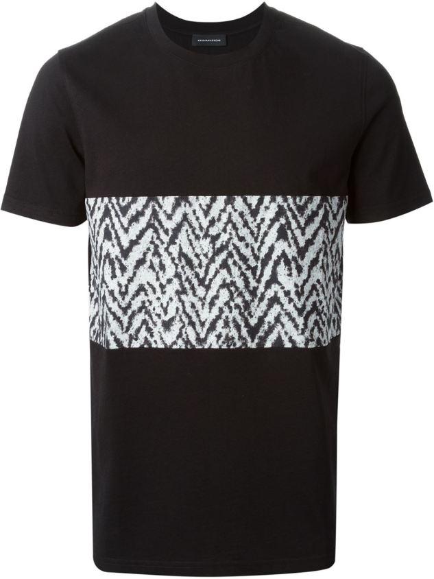 krisvonassche panel t shirt