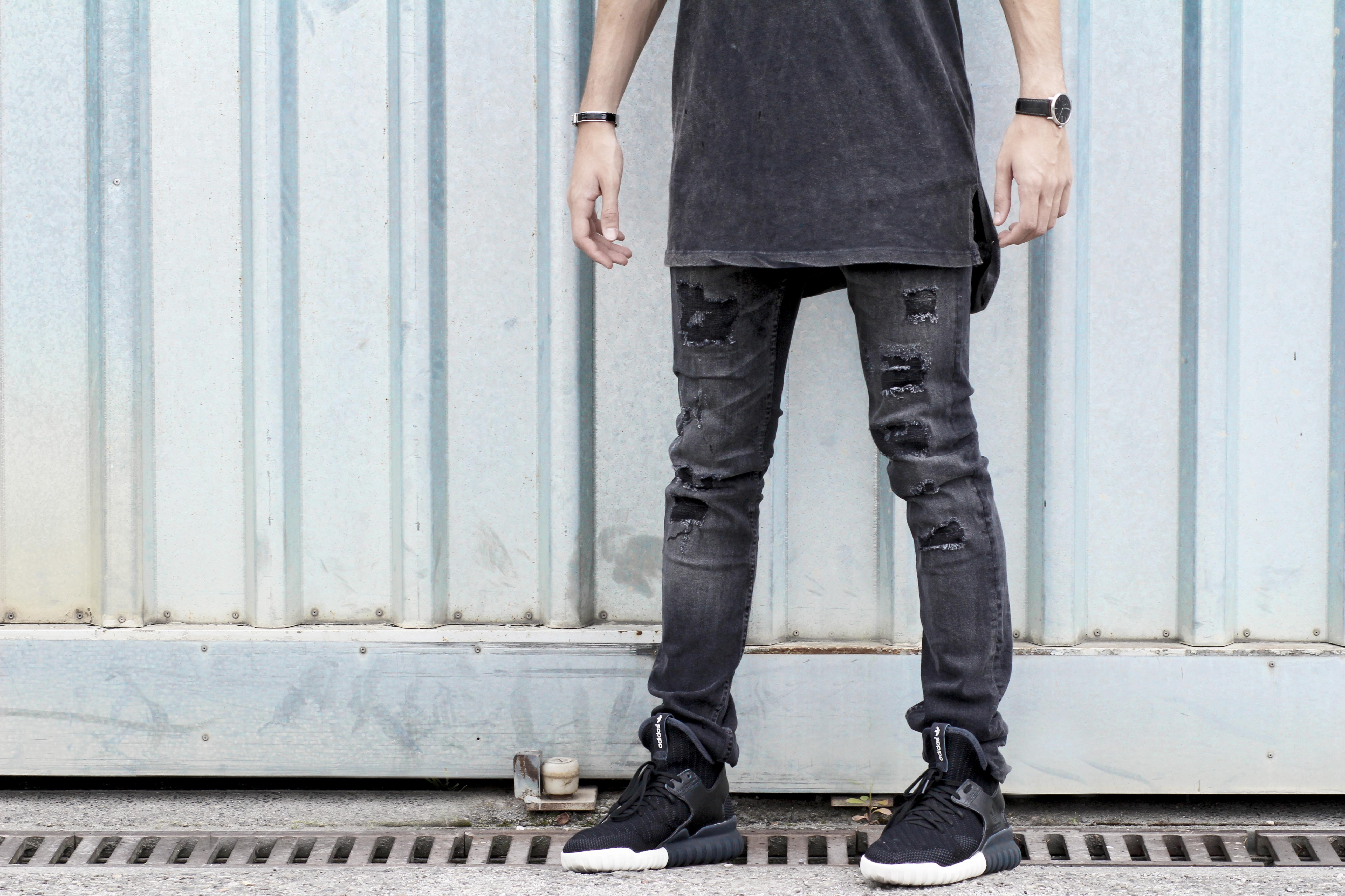 adidas tubular jeans