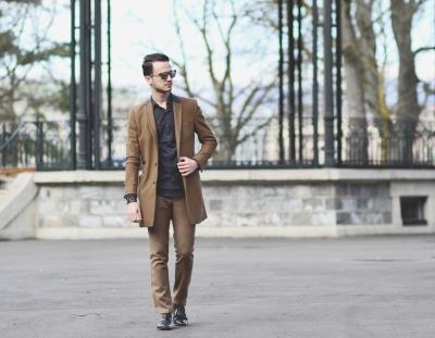 Infashionity swiss menswear fashion blog camel coat zara shirt dior eyewear