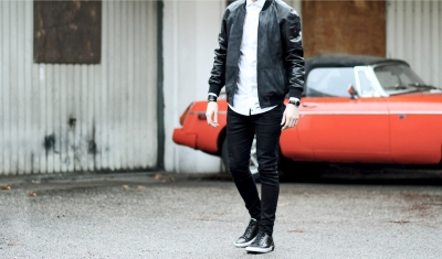 infashionity menswear swiss fashion blog strellson brand leather jacket
