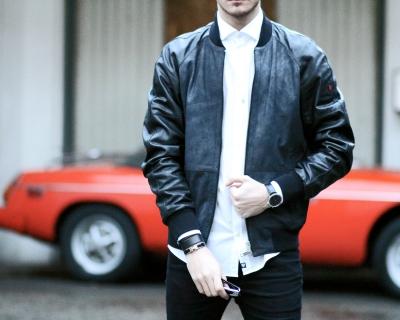 infashionity menswear swiss fashion blog strellson brand leather jacket