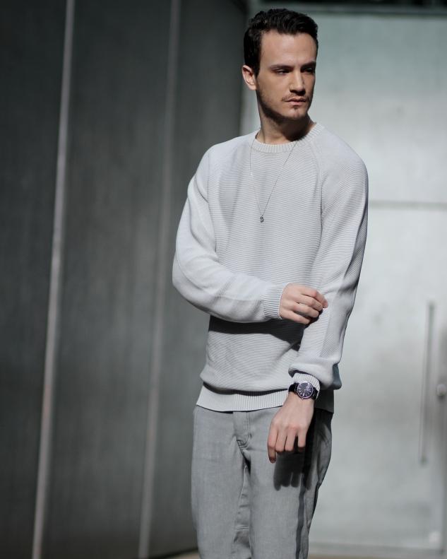 infashionity menswear fashion blog henri balit strellson casual sneakers grey sweater