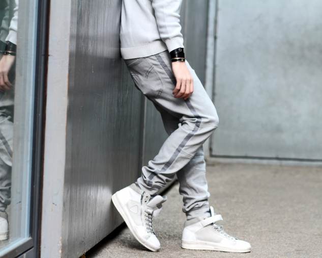 infashionity menswear fashion blog henri balit strellson casual high top sneakers track pants hermes bracelet