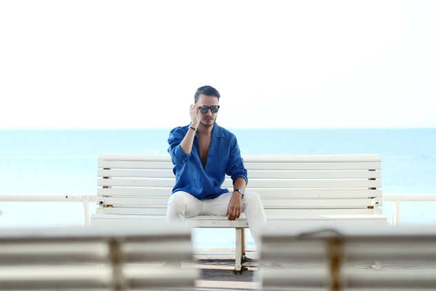 henri balit photography infashionity menswear platform mediterranean blue summer outfit men's look swiss fashion blog dior homme eyewear