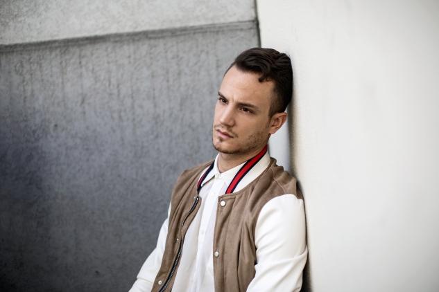 infashionity menswear fashion blog swiss henri balit photography styling varsity jacket portrait