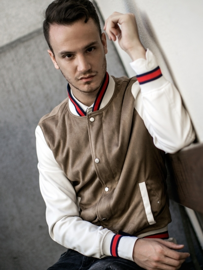 infashionity menswear fashion blog swiss henri balit photography styling varsity jacket portrait