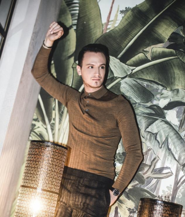 infashionity swiss men's fashion blog check suit hm holiday campaign henri balit le melrose palm trees papier peint