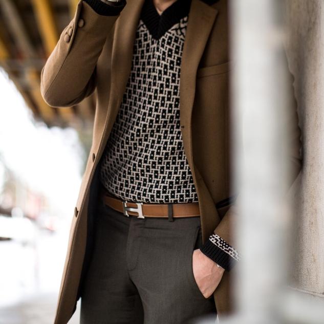 INFASHIONITY menswear fashion blog hermes belt bottega veneta knitwear camel coat