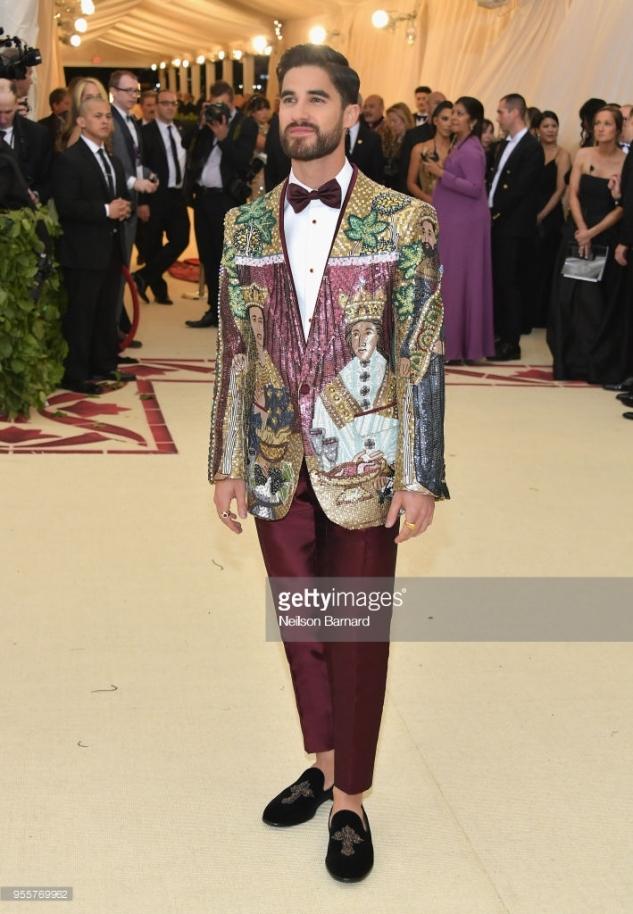 Darren Criss Dolce Gabbana met gala 2018