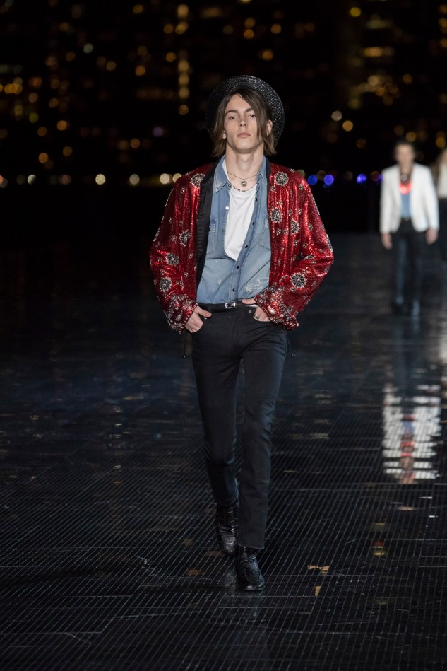 saint laurent menswear spring summer 19 collection anthon vacarello infashionity review bomber jacket embroidery