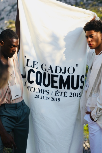 "limited edition ""Le Gadjo"" ss19 menswear runway beach summer towel"