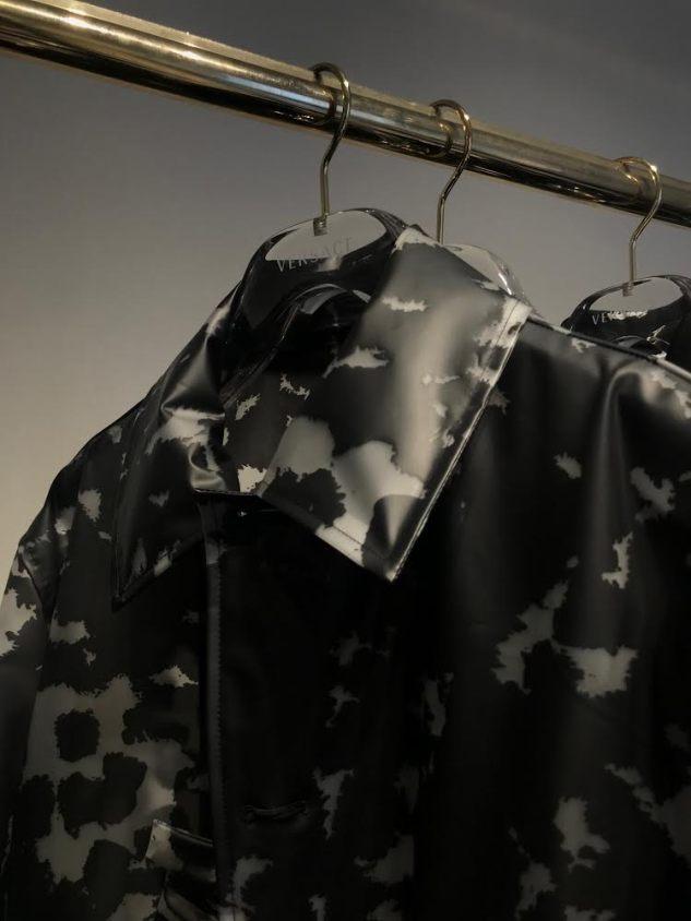 versace plastic trenchcoat ss19 menswear