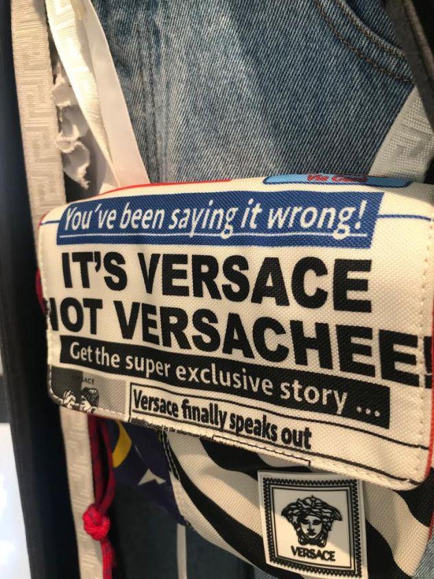 versace saying it wrong bag ss19 menswear